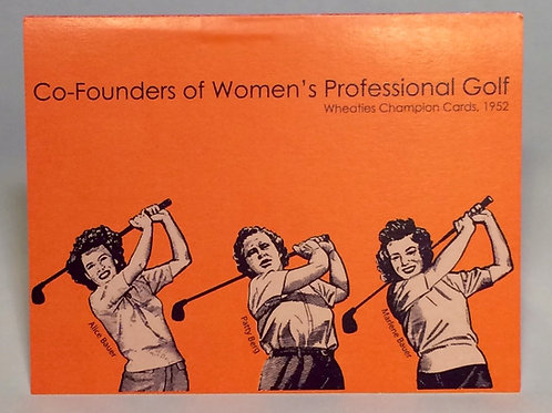Greeting card set - 3 co-founders of the LPGA, set of 6 cards