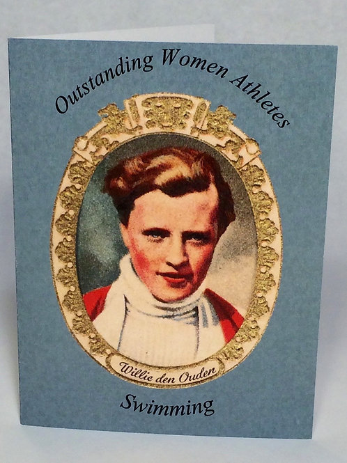 Greeting card - Willie den Ouden (swimmer) set of 6