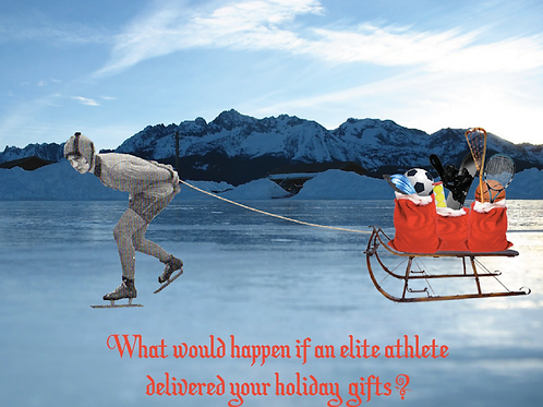 Holiday card - speed skater