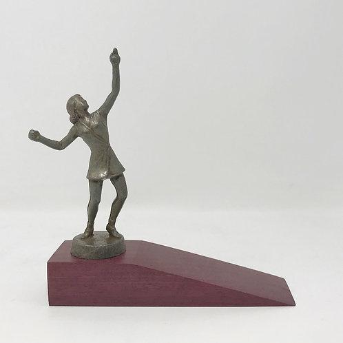 Vintage tennis topper on Purpleheart wood