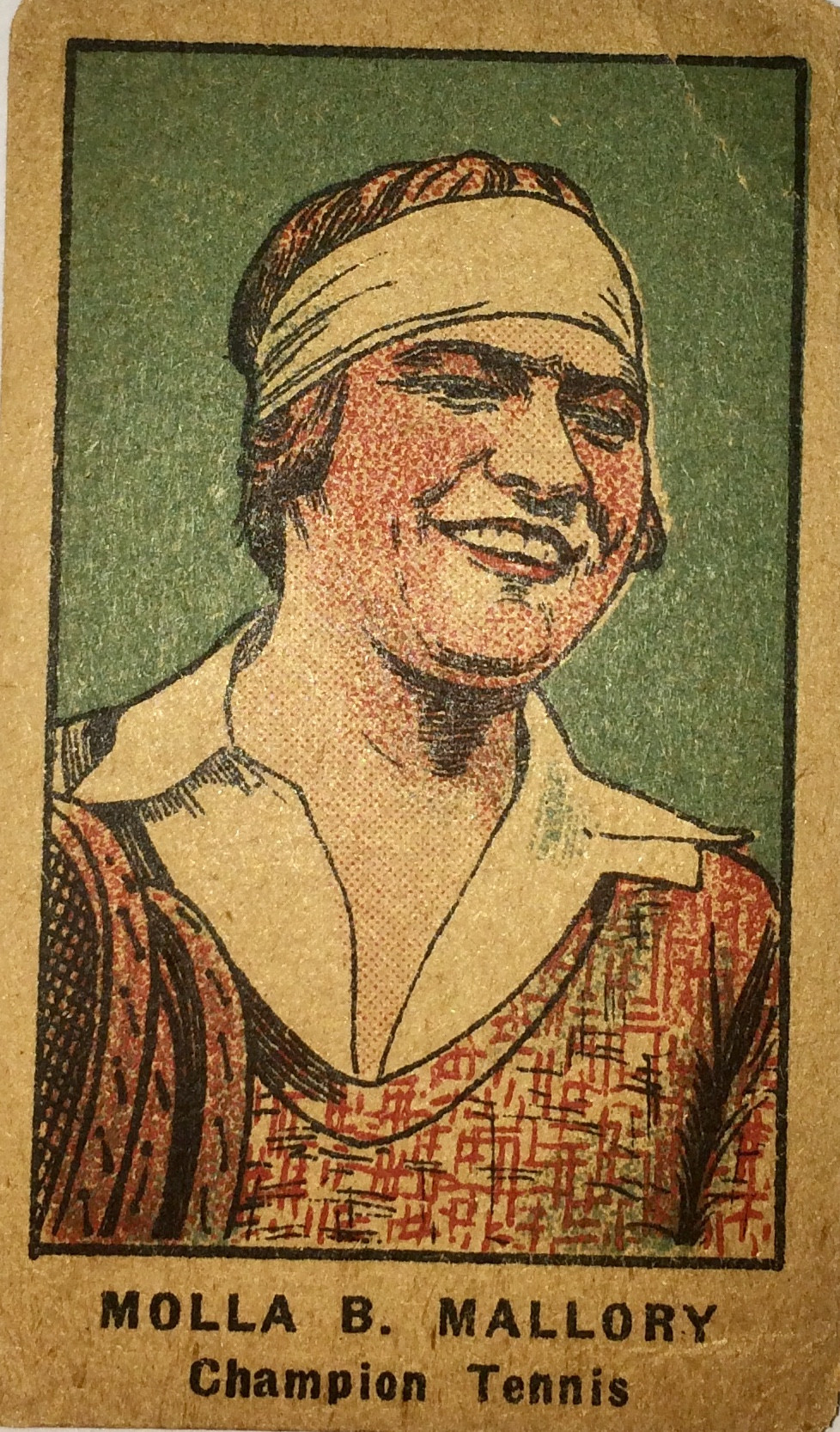 """Card: 1921 Strip card. Strip cards included many athletes, including baseball greats Ty Cobb and Babe Ruth. Cards were hand cut and were called """"strip"""" cards because they were sold in a strip of several cards. Card Size: 1 3/4"""" x 2 5/8""""."""