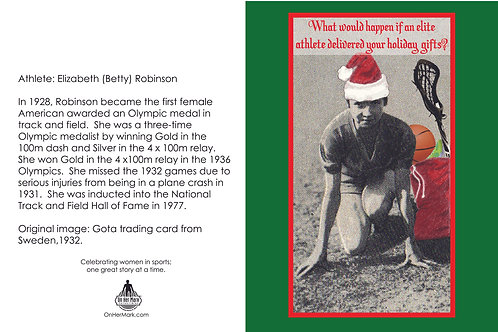 Holiday card - first U.S. female Olympian in track