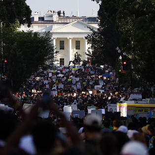 'Enough is enough': Thousands descend on D.C. for largest George Floyd protest yet