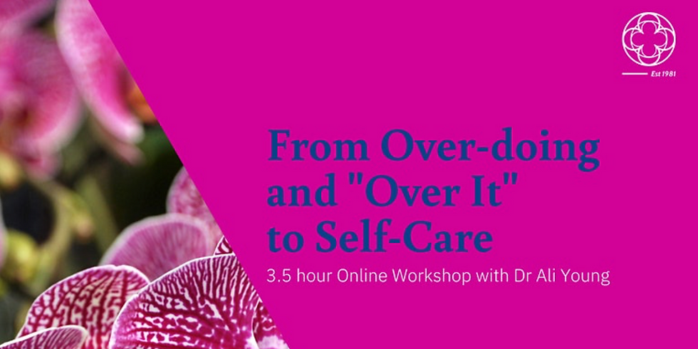 """From Over-Doing it and """"Over It"""" to Self-Care"""