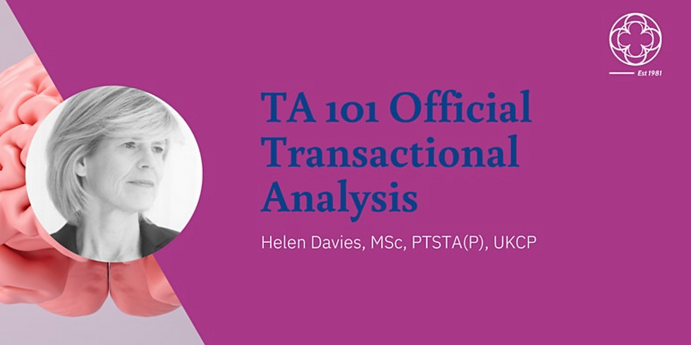 TA 101 Official Introduction to Transactional Analysis