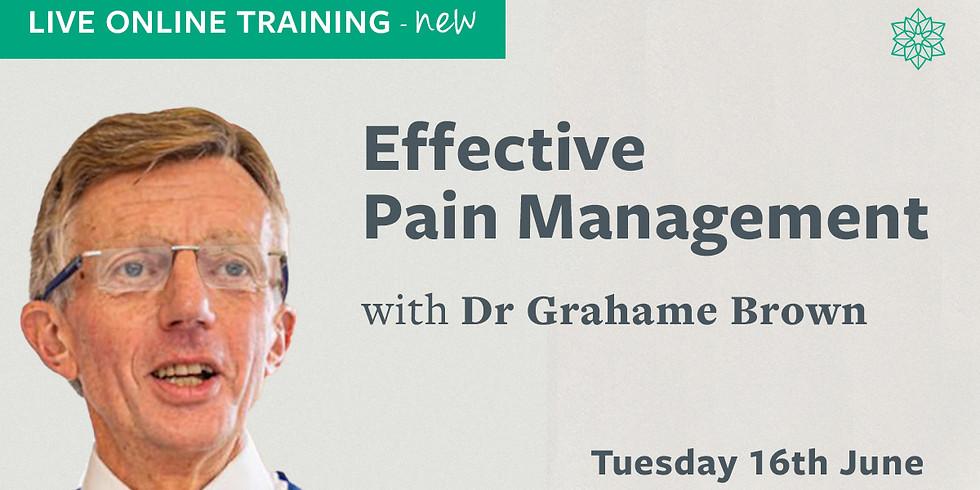 Effective Pain Management – Live Online