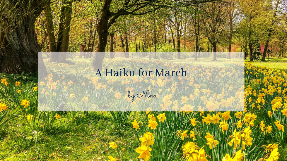 POEM: A Haiku for March