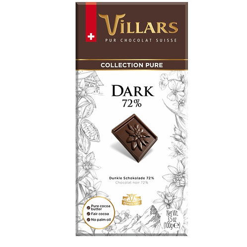Villars Dark Chocolate - 72%