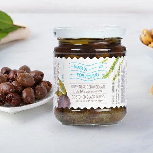 Olive Denocciolate con Erbe Aromatiche