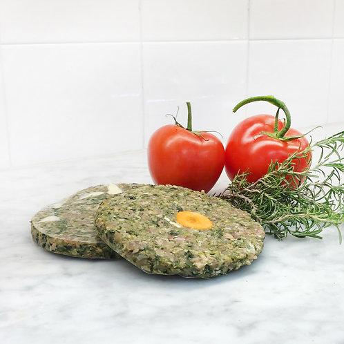 2 Hamburger di nostra produzione Tacchino e Spinaci