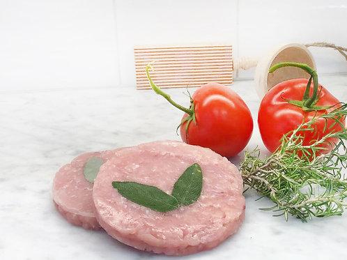 2 Hamburger di nostra produzione Tacchino, Proscutto e Formaggio