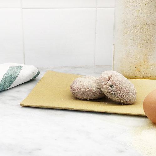 2 Polpette impanate di Pollo e Tacchino