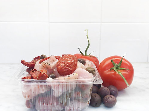 Spezzatino di Pollo e Pomodorini secchi