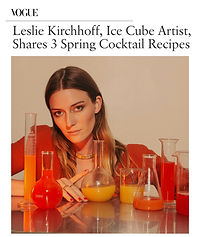 Leslie Kirchhoff Disco Cubes in Vogue