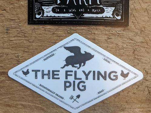 Flying Pig Logo Sticker