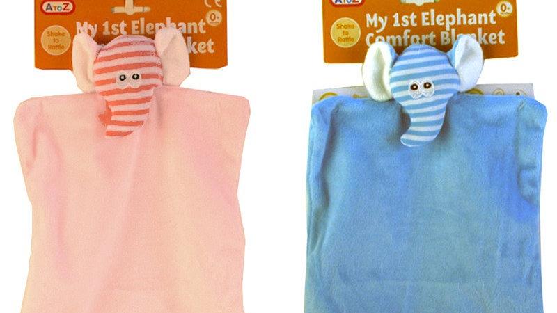 Striped Elephant Comforter