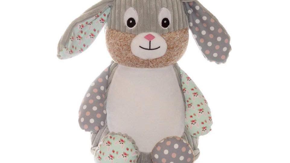 New Grey Harlequin Rabbit Cubbie