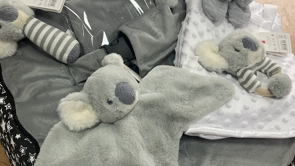 Luxury Koala Baby Bean Bag Set