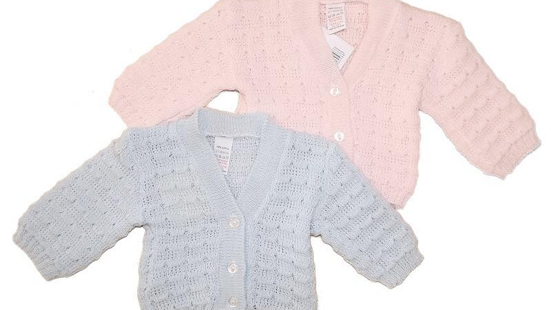 Pink or Blue knitted cardigan