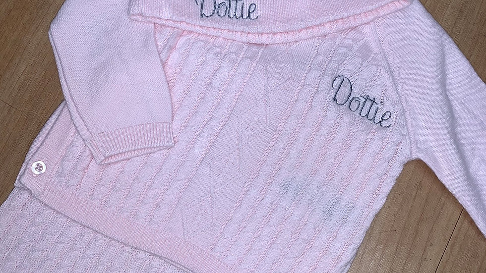 Personalised Knitted Lounge wear with hat