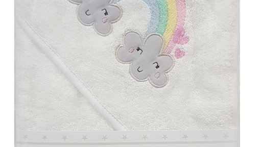 Rainbow Hooded Bath Towel
