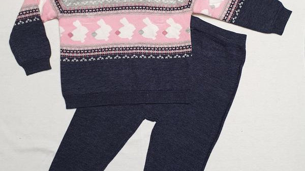 Knitted 2pc bunny set
