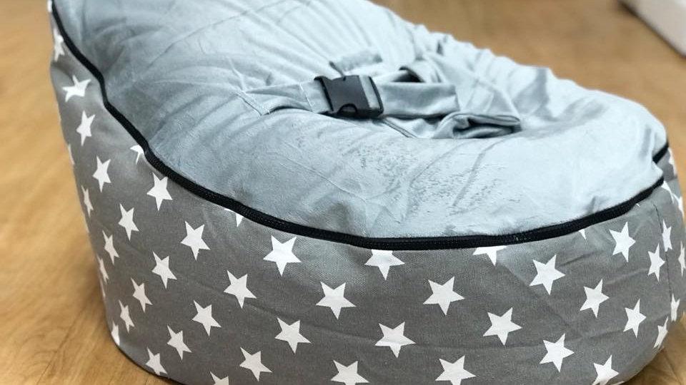 Grey/White Star Baby Bean Bag