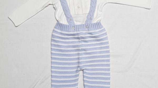 2pc Top & Knitted Dungaree set