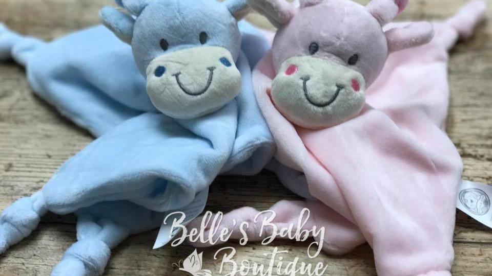 Pink or Blue Giraffe Baby Bean Bag set