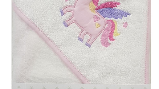 Unicorn Hooded Bath Towel