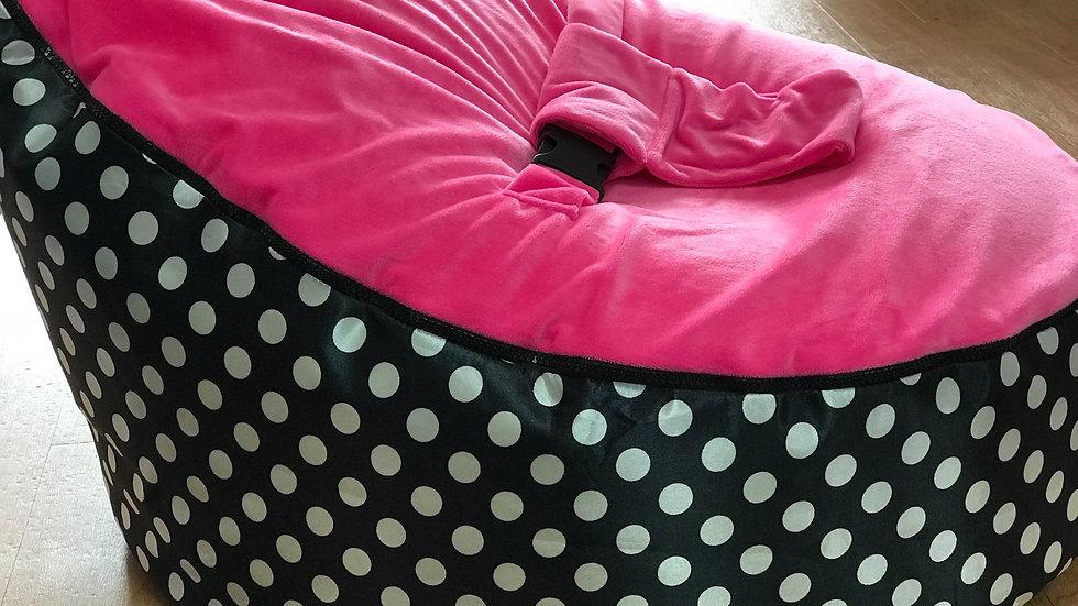 Black/White Spot Baby Bean Bag