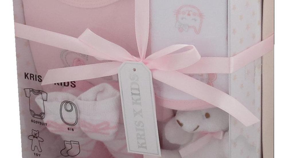 Pink cat 4 Piece Gift Set