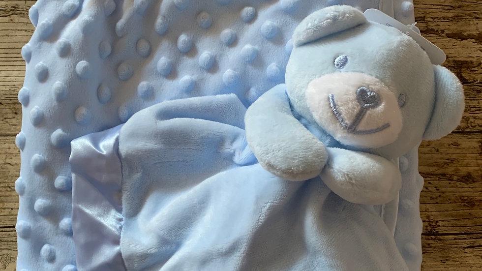 Bobble blanket and bear comforter set