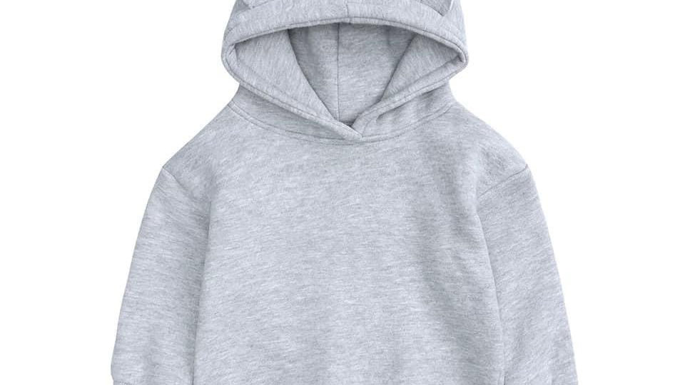 Hooded jumper with bear ears