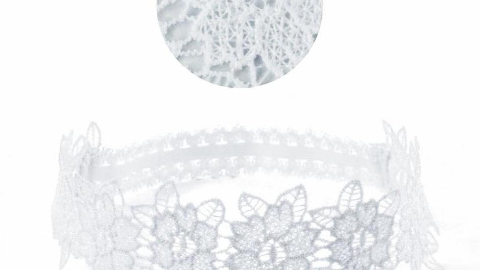 White Flower Lace Headband