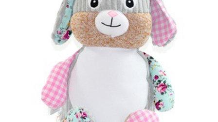 Pink Harlequin Rabbit Cubbie
