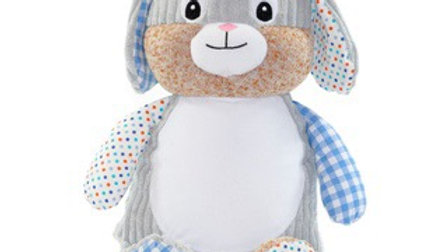 Blue Harlequin Rabbit Cubbie