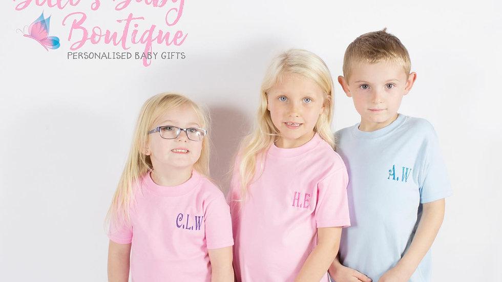 Personalised Tshirt Pink