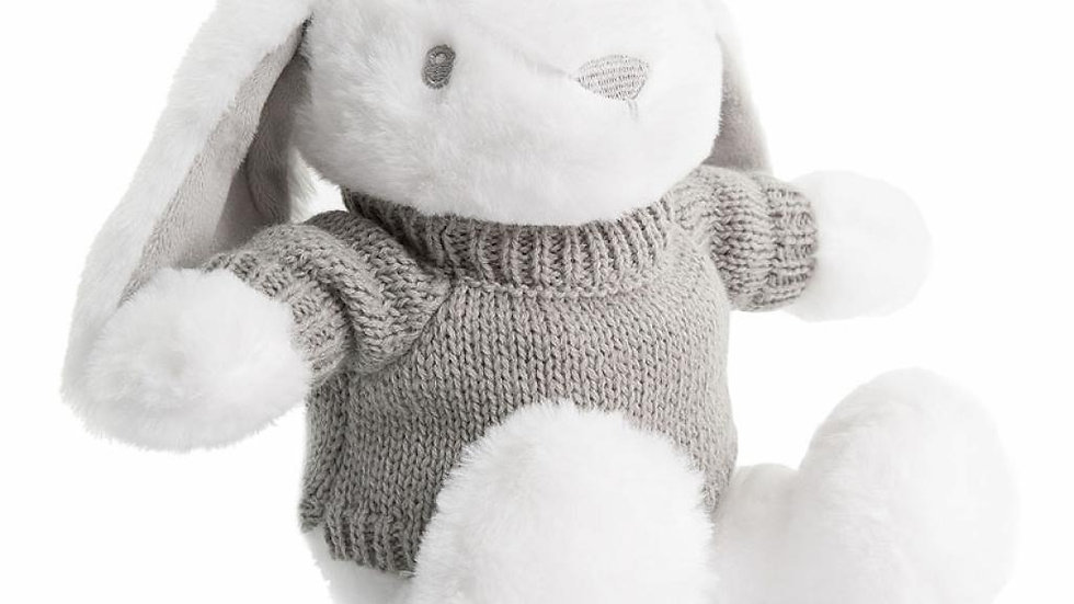 Personalised White rabbit with Jumper