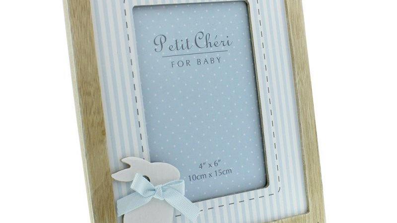 Rabbit photo frame in pink or blue