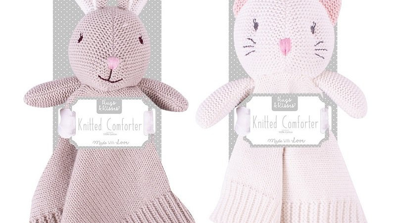 Knitted Bunny or Cat Comforter