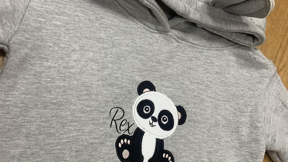 Panda Design Hooded jumper with bear ears