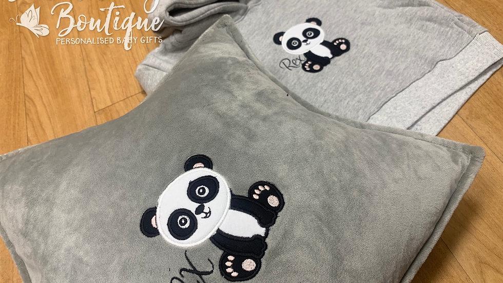 Personalised Panda Star Pillow