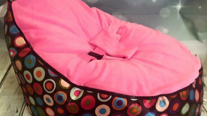 Pink multi spot Baby Bean Bag