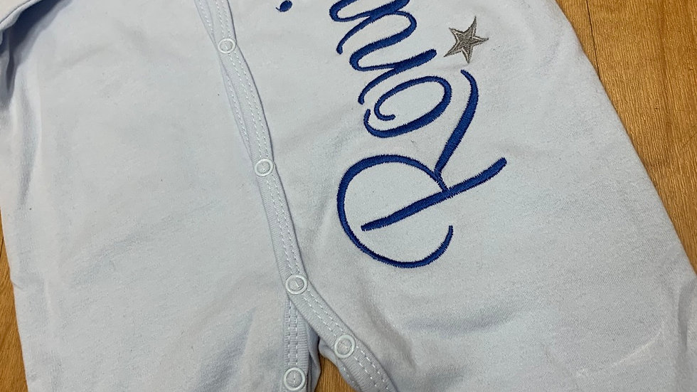 Poppered BabyGrow with large side design