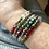 "Thumbnail: ""Mrs. Claus"" - crystal memory wire cuff"