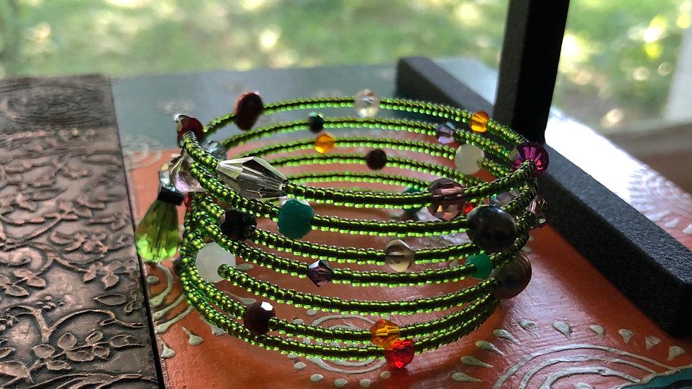 """""""Garden Party"""" Fun Coil Bracelet"""