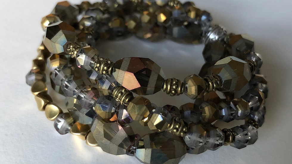 """Mirror Mirror"" Stretch Bracelet"
