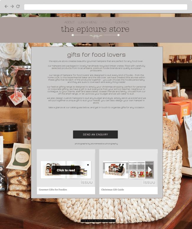 Screenshot del sitio web de Epic Store de Australia