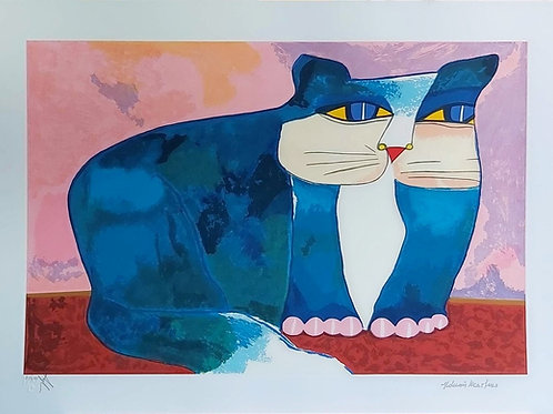 Obra Gato Azul de Aldemir Martins